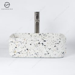 Terrazzo Bathroom Square Sinks Washing Basin