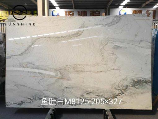 calacatte white quartzite slab