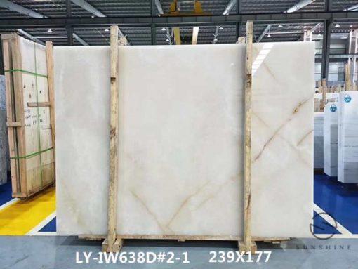 white onyx slab